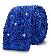 The Blue Knit Newton Dot Tie