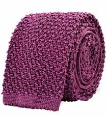 The Purple Caden Knit Tie