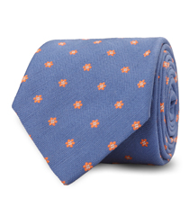 The Blue Maher Floral Tie