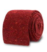 The Dark Red Karlin Flecked Knit Tie