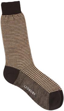 Tan Riley Dot Sock
