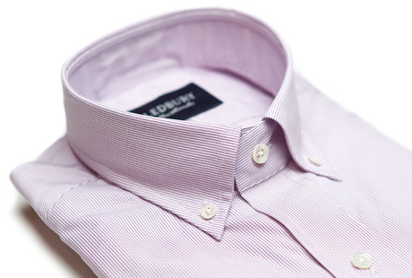The Purple Micro-Check Slim Fit collar