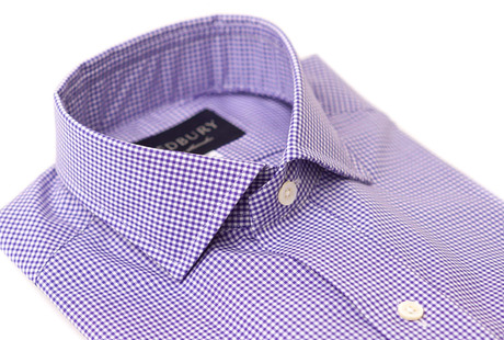 The Purple Cross Cutaway Slim Fit collar