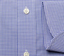 The Blue Cross Gingham Cutaway Slim Fit singlecuff
