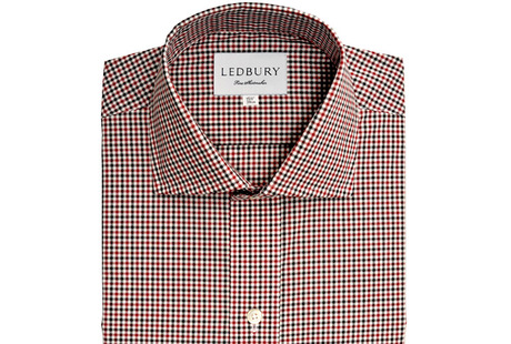 The Red and Black Townsend Tattersall Slim Fit shirt