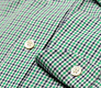 The Navy and Green Townsend Tattersall Slim Fit singlecuff