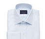 Blue Fine Twill French Cuff Slim Fit shirt