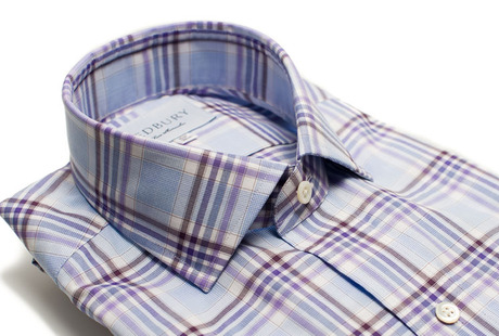 The Warsaw Plaid Slim Fit collar