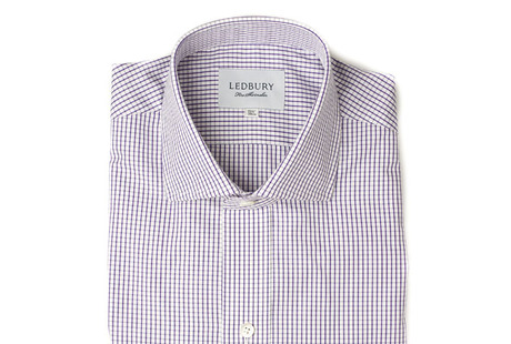 The Purple Box Check Spread  shirt