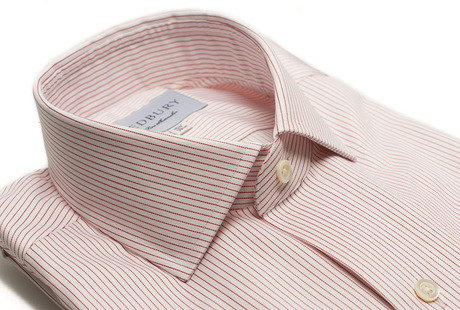 The Red Henley Stripe Twill collar