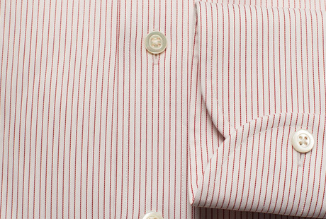The Red Henley Stripe Twill singlecuff