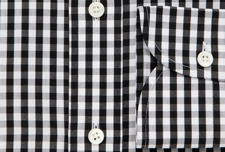 The Black Parker Gingham singlecuff