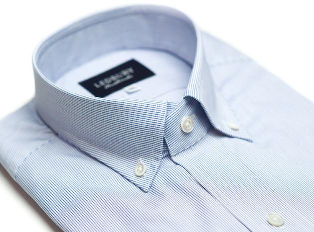 The Blue Micro-Check collar