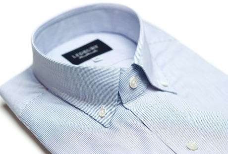 The Blue Micro-Check collar