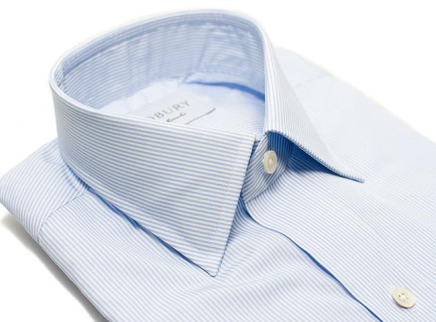 The Blue Thin Stripe 120 collar