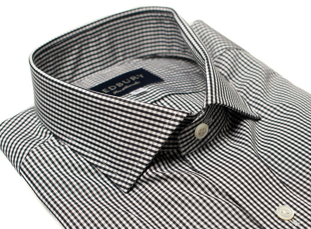The Black Cross Gingham collar