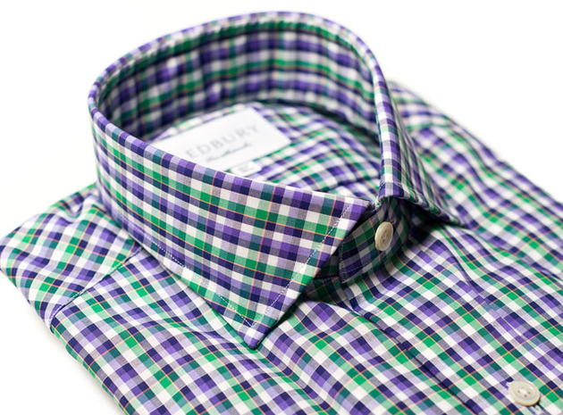 The Orleans Check Classic collar