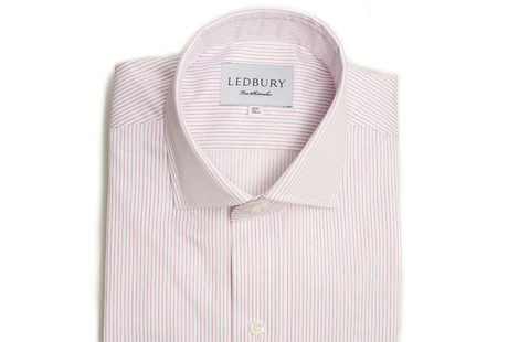 The Purple Henley Stripe Twill shirt