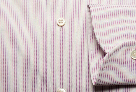 The Purple Henley Stripe Twill singlecuff