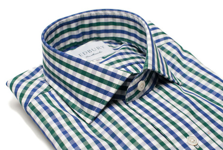 The Blue and Green Starks Gingham collar