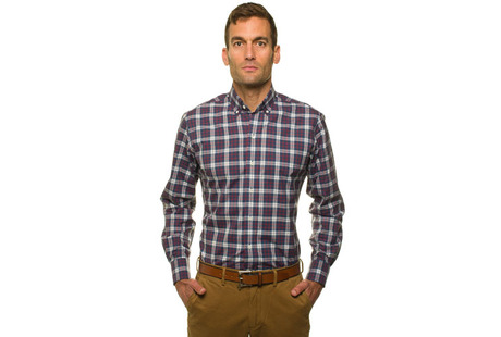 The Allen Plaid modelcrop