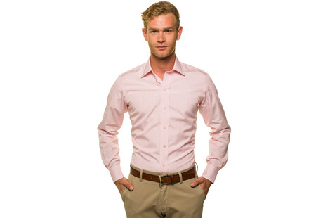 The Pink Bengal Worker Slim Fit modelcrop