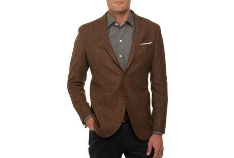 The Rust Huxley Sport Coat Slim Fit collar