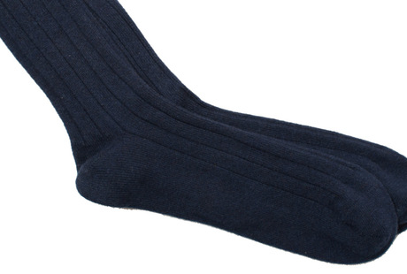 The Navy Alastair Sock singlecuff