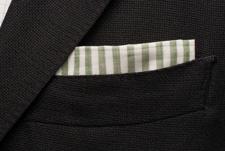 The Cameron Stripe Pocket Square shirt