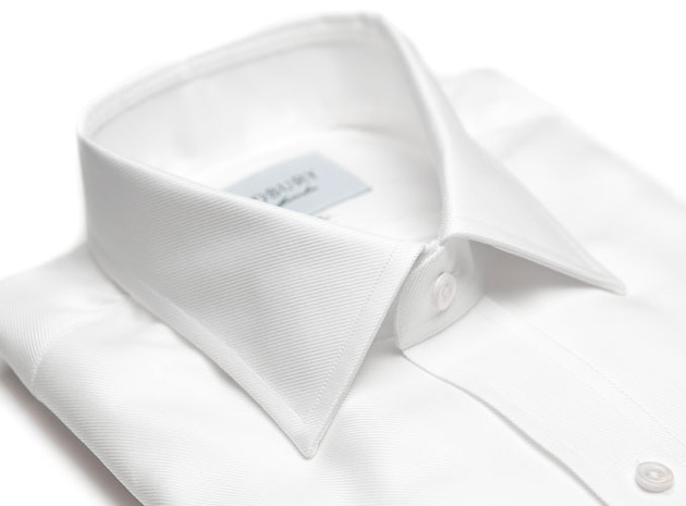 The White Royal Twill Worker collar