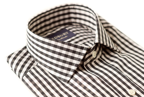 The Black Parker Gingham Slim Fit collar