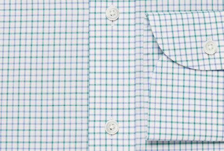 The Green Montgomery Check singlecuff