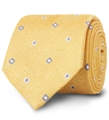 The Yellow Lennox Basketweave Tie