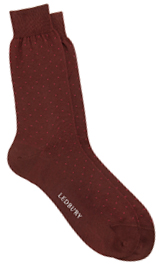 The Maroon Beckett Micro Dot Sock