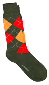The Green Layton Argyle Sock