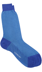 The Blue Houndstooth Sock