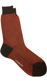 The Rust Herringbone Sock