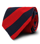 The Red Derby Stripe Tie