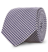 The Purple Wilde Houndstooth Tie