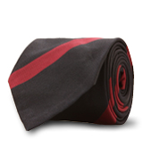 The Navy and Red Gibson Stripe Tie